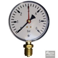 "Picture: Pressure gauge, 6 bar, d=100mm, G1/2"",  bottom connection"