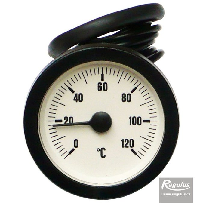 Photo: 0-120°C Thermometer, 1m capillary, d=57.5 mm, white