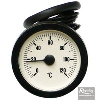 Picture: 0-120°C Thermometer, 1m capillary, d=57.5 mm, white