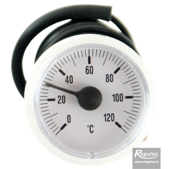 Photo: 0-120°C Thermometer, 1m capillary, d=42 mm, white