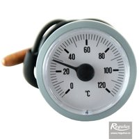 Picture: 0-120°C Thermometer, 1m capillary, d=42mm, grey