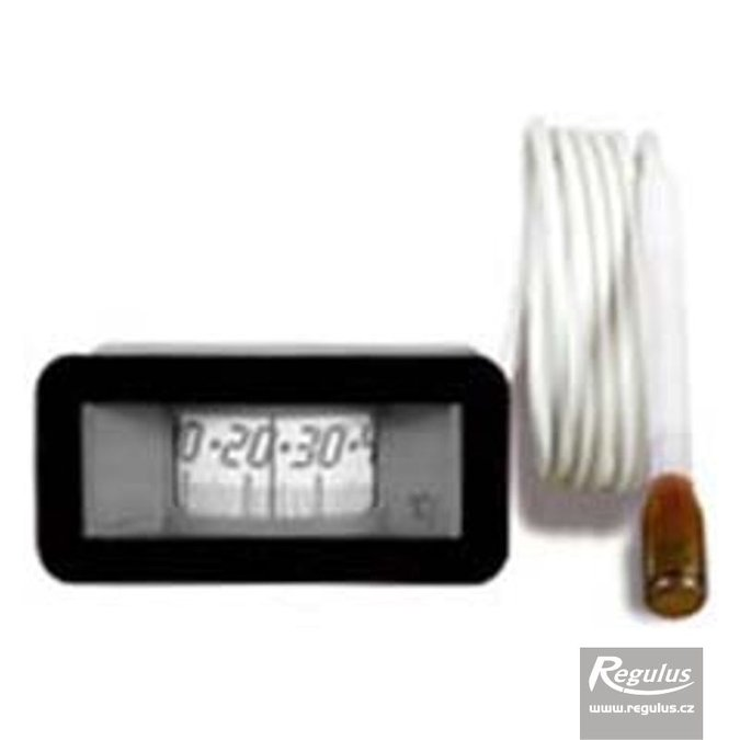 Photo: 0-120°C Thermometer, 1m capillary, 31x64 mm, black