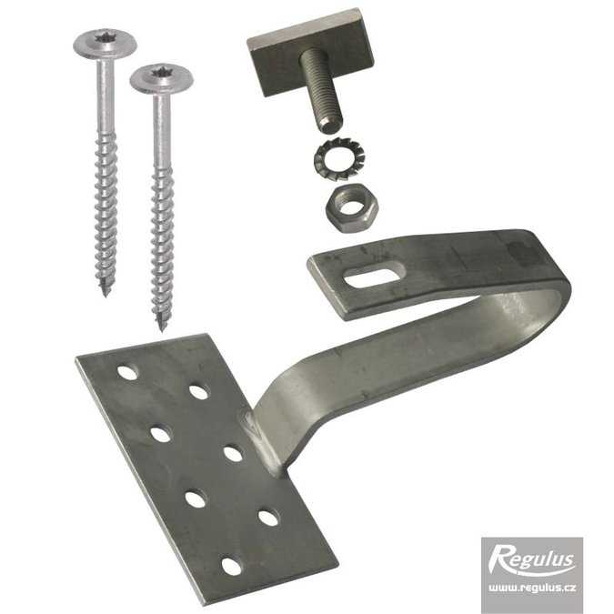 Photo: Anchor for Bramac roof tiles - stainless-steel, for roof rafters, w. bolts