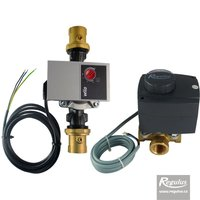 "Picture: 3-way Mixing Valve, 3/4"", with actuator and pump"
