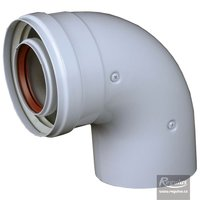 Picture: 60/100 mm 90° Elbow, Fe/Al, M-F