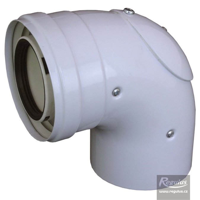 Photo: 60/100 mm 90° Elbow, inspection door, PP