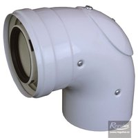 Picture: 60/100 mm 90° Elbow, inspection door, PP