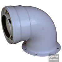 Picture: 60/100 mm 90° Elbow, flange, PP/Al