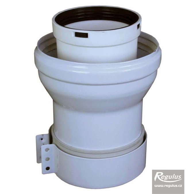 Photo: 60/100 to 80/125 mm Boiler Adapter w. sleeve, PP