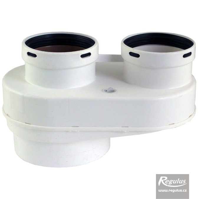 Photo: 80 mm Twin Flue Adapter, 80/125, Ryton, PP
