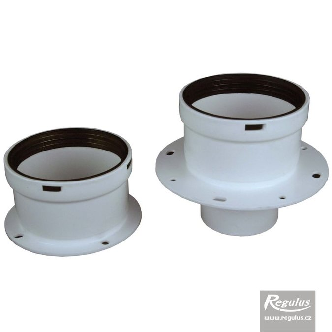 Photo: 80 mm Flanged Boiler Adapters, air/flue, set, PP