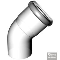 Picture: 80 mm 45° Elbow, PPH-A