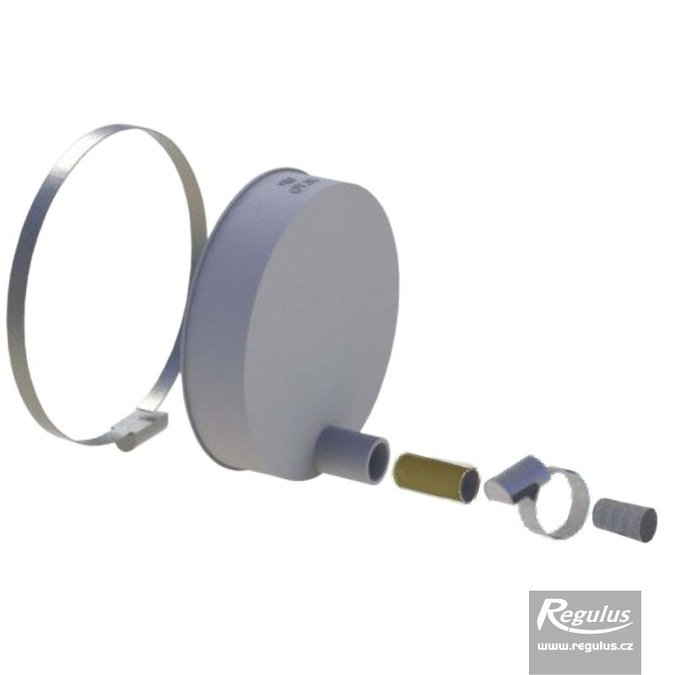 Photo: 160 mm Cap for Cascades, w. condensate trap & plug