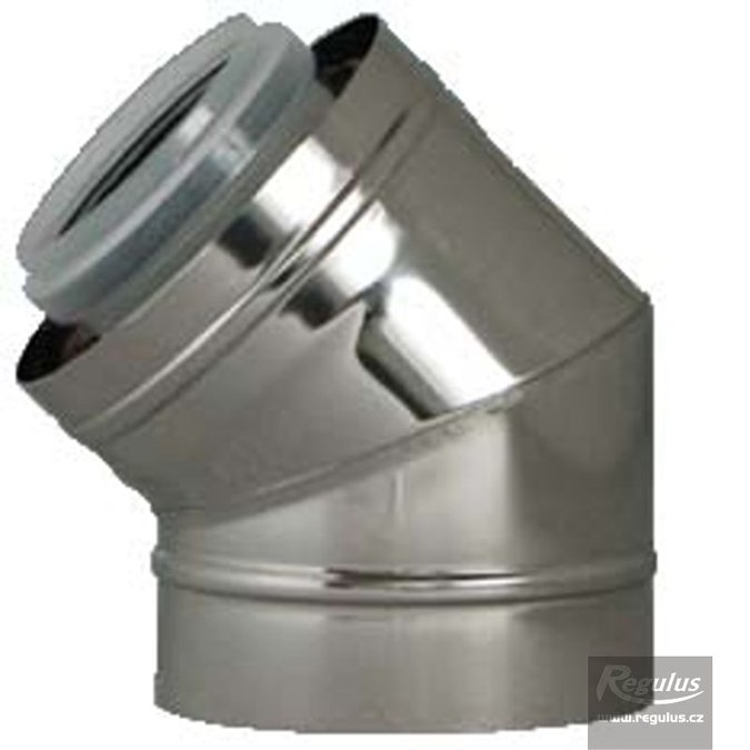 Photo: 80/125 mm 45°Elbow, PPH-A/Inox