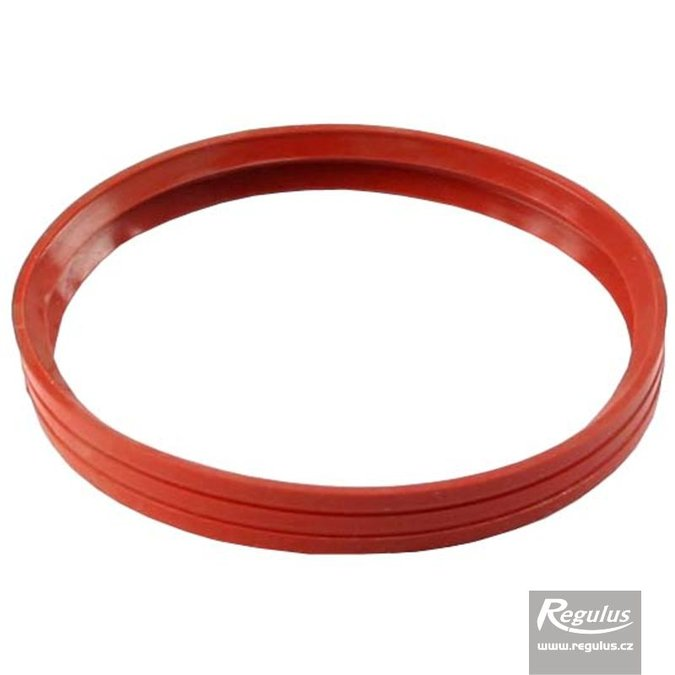 Photo: 100 mm Gasket, 2 lips, red, for flue