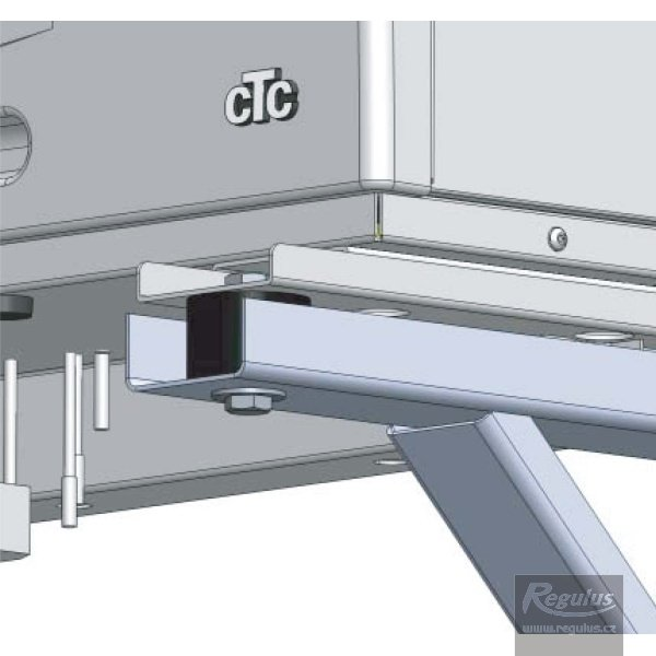 Photo: Wall support bracket for CTC Eco Air 105, 107 and 110 heat pumps