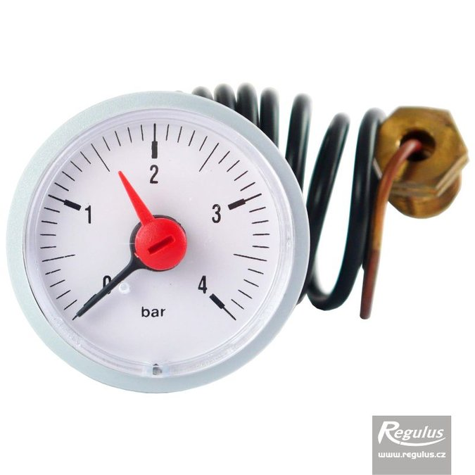 Photo: Pressure Gauge, 4 bar, 1m capillary, d=42mm