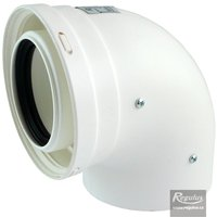 Picture: 80/125 mm 90° Elbow, PP/PP
