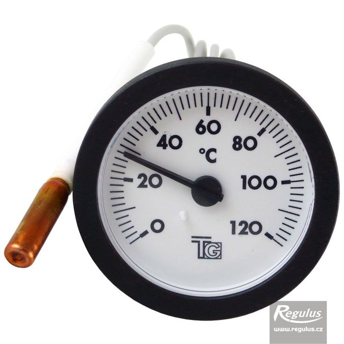 Photo: 0-120°C Thermometer, 0.5m capillary, d=57.5 mm, black