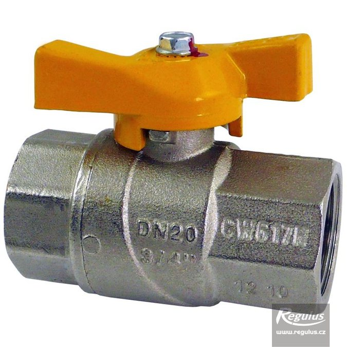 Photo: Straight ball valve for gas, butterfly, FF