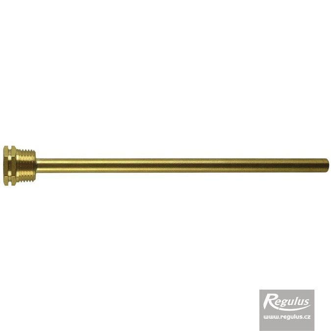 "Photo: Sheath for 1 sensor, 7x9x200 mm, 1/2"", brass"