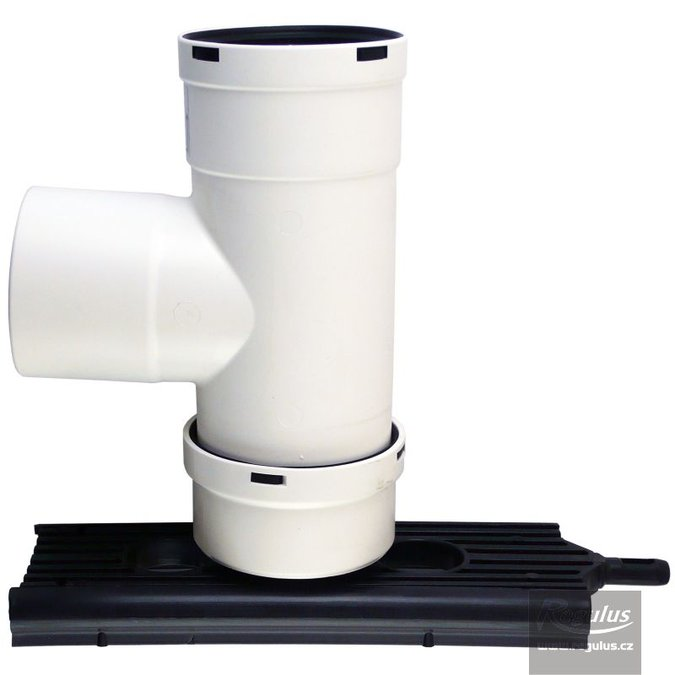 Photo: 80 mm Chimney T-piece, condensate trap, incl. support