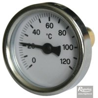 "Picture: 0-120°C Thermometer, with sheath (l= 30, 3/8""), rear, d=40 mm"