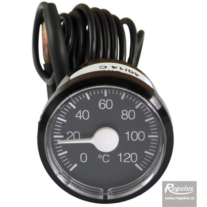 Photo: 0-120°C Thermometer, 1m capillary, d=42 mm, black