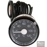 Picture: 0-120°C Thermometer, 1m capillary, d=42 mm, black