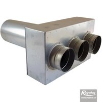 Picture: Air Distribution Box, straight, long, 3x75/125
