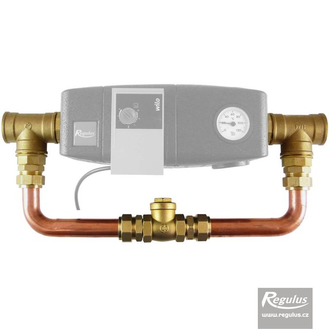 Photo: Bypass with float check valve for REGOMAT 5/4""