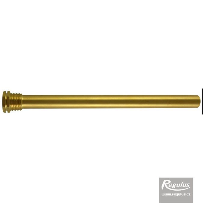 "Photo: Sheath for 3 sensors, 15x17x230 mm, 1/2"", brass"