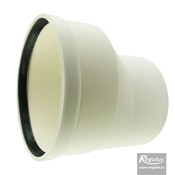 Photo: 125 to 160 mm Asymmetric Flue Adapter, horizontal
