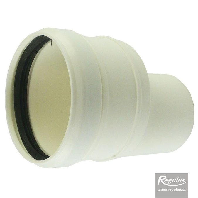 Photo: 60 to 80 mm Asymmetric Flue Adapter, horizontal