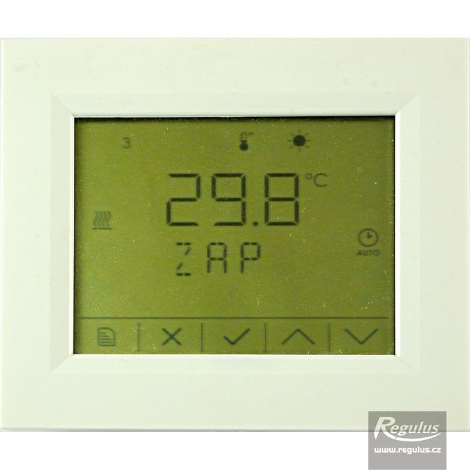 Photo: RCD Room Unit w. temperature sensor and display, for IR12