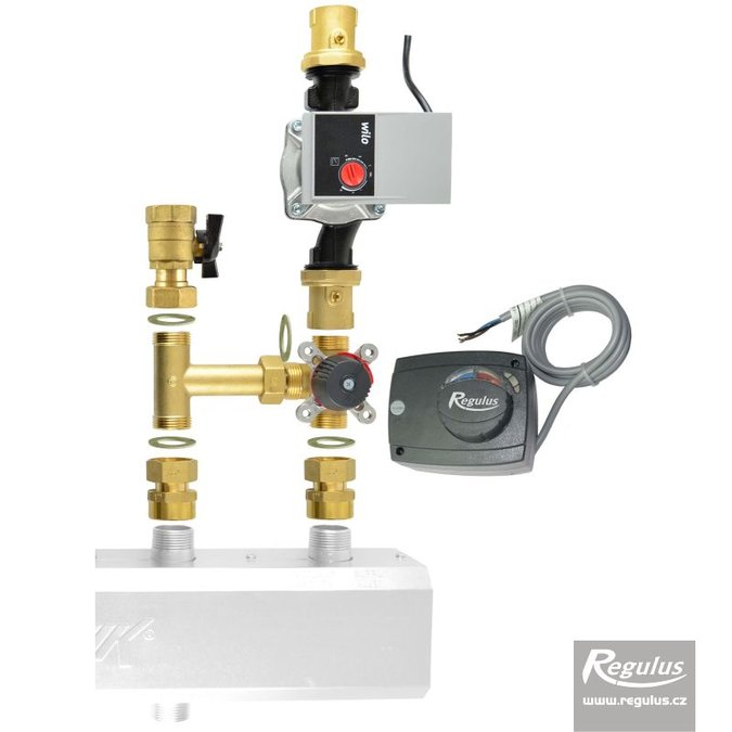 "Photo: 3-way Mixing Valve 1"" with actuator, pump, connection kit"