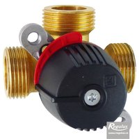 "Picture: LK 840 2.0 Three-way Mixing Valve, 1"" M, Kvs 6.3"