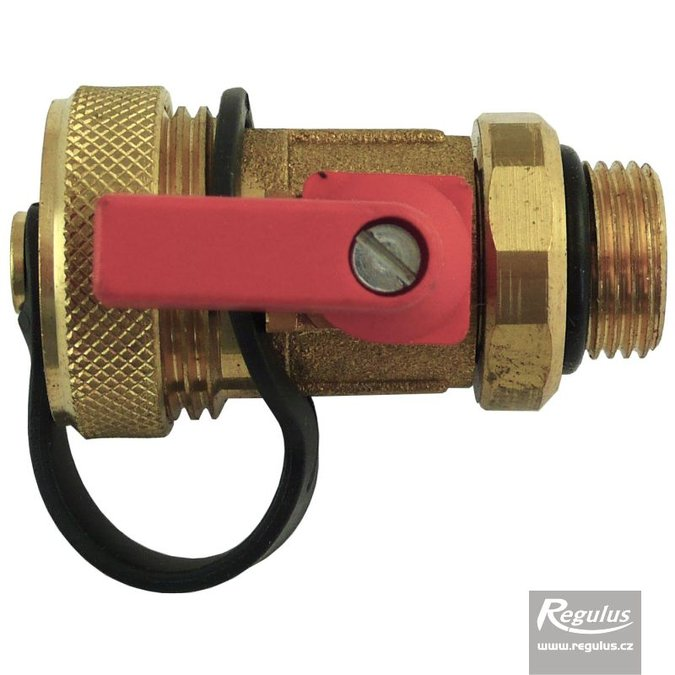 "Photo: Ball Valve, 3/8"", with cap for flowmeter"