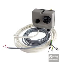 Picture: Double encased adjust. immersion thermostat, 0-90/100°C, sensor, cable