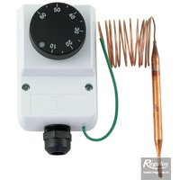 Picture: Encased adjustable capillary thermostat, 0-60°C, 1.5 m capillary, IP40