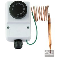 Picture: Encased adjustable capillary thermostat, 0-90°C, 1.5 m capillary, IP 40