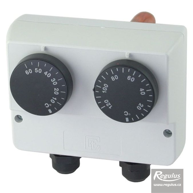 Photo: Double encased adjustable immersion thermostat, 0-60/30-120°C