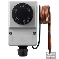 Picture: Encased adjustable capillary thermostat, -35/+35°C, 1.5 m capillary, IP40