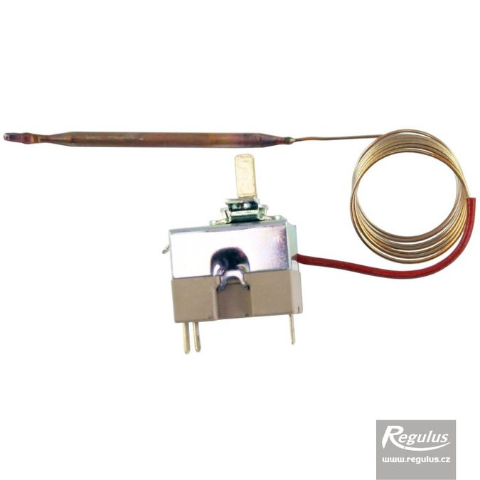 Photo: Adjustable thermostat, 0-210°C, 1m capillary, copper sensor d=5mm