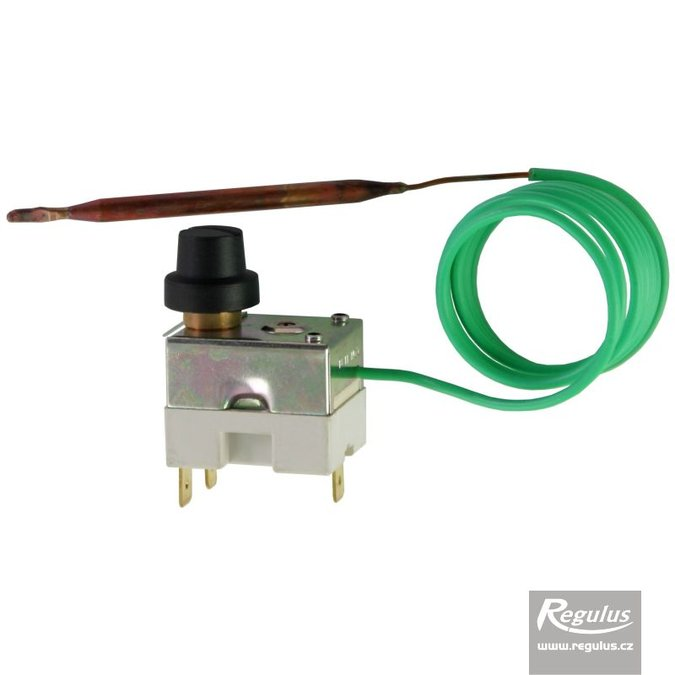 Photo: Safety thermostat, 140°C, 1m capillary, gold plated contacts, SPDT