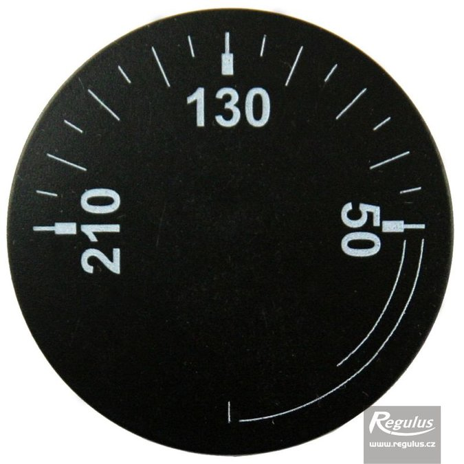Photo: Convex knob, black, 0-210°C