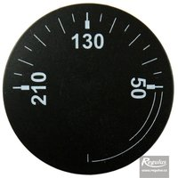 Picture: Convex knob, black, 0-210°C