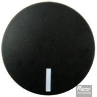 Picture: Convex knob, black, limit mark