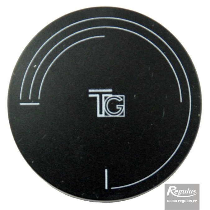 Photo: Convex knob, black, symbolic, TG