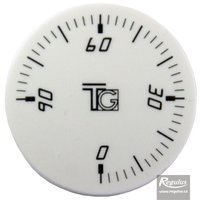 Picture: Convex knob, white, 0-90°C